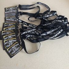 10 JACK DANIELS LANYARDS & BACKSTAGE PASSES