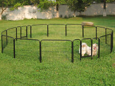 "24"" Tall 16 Panels Metal Pet Dog Puppy Cat Exercise Fence Barrier Playpen Kennel"