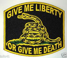 GIVE ME LIBERTY OR GIVE ME DEATH...Anti Obama  Biker  Pro-Gun Patch P2858 E