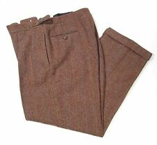 Polo Ralph Lauren Wool Tweed Pants Trousers Men's 34X29 Made in Italy