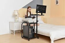 e-Joy Mobile & Compact Computer Cart / Computer Desk PC Laptop Table Workstat...