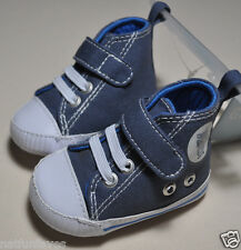 New Gymboree baby infant booties sneakers crib shoes NWT blue gray size 01 1