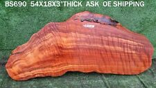 BS690  Old Growth Redwood curly Slab, rustic live edge table slab,bar top