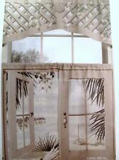Cafe Curtains Window Art Mural ISLAND RETREAT Scene VALANCE ONLY 48 x 19 NEW