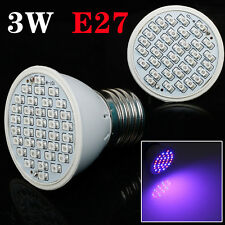 E27 3W 36 LED Plant Grow Light Red+Blue Hydroponic Flower Veg Growing Lamp Bulb