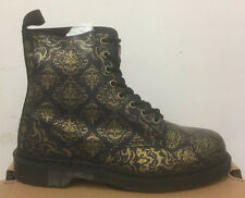 DR. MARTENS PASCAL PURPLE+BLACK BAROQUE CRISTAL SUEDE  LEATHER  BOOTS SIZE UK 3