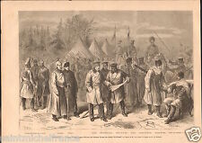 Russia Uniforms Don Cossacks Dragoons Ironclad Uhlans Hussars GRAVURE PRINT 1876