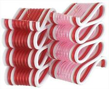 """2.75"""" Peppermint Twist Pink and White Ribbon Candy Christmas Ornament"""