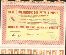 Société Calaisienne des PÂTES à PAPIER (PAS DE CALAIS 62) (O)