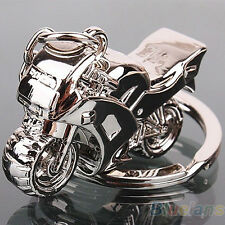 Cute Fashion Motorcycle Key Ring Chain Motor Silver Keychain Cute Lover BB7U