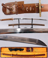 TRADITION CLAY TEMPERED FOLDED STEEL BLADE JAPANESE NAVY MILITARY OFFICER SWORD