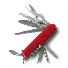 Red Mini 13 in 1 Multifunction Swiss Style Pocket Gadget Camping Tools