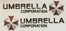 2 x Large Umbrella Corporation Car Side Mirror Sticker Resident Evil 86 Decal
