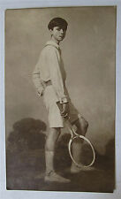 Auguste Leroux - Portrait du peintre André Leroux au tennis - Bernes Marouteau
