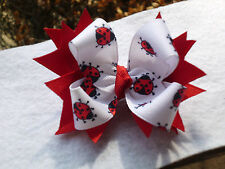 Hair Bow A very cute Ladybug with Red spiks hair bows on a alligator clip