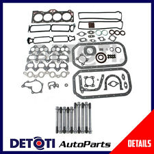 Fits:1989 Chevrolet Nova Twin Cam 1.6L I4 Eng. Code 4AGE Full Gasket Set & Bolts