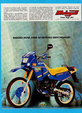 MOTOSPRINT986-PUBBLICITA'/ADVERTISING-1986- MALAGUTI ENDURO DUNE