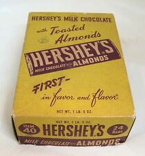 Antique Paper  Hershey's With Almonds Candy Bar Box  Original