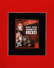 WWE - The ROCK / DWAYNE JOHNSON Valentine's Day PRINT PROFESSIONALLY MATTED