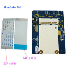 """1.8"""" LIF to mSATA SSD adaper 40Pin ZIF CE to mini SATA Card with LIF ZIF cable"""