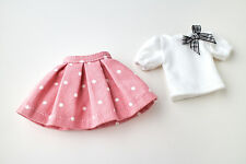 Neo Blythe, Licca Doll Outfits Clothes White T-Shirt and Pink Mini Skirt