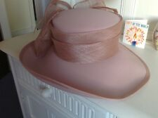 gina hat shell pink worn once to wedding fab bow detail suit races or church