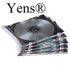 Yens® 400 New Black Single Slim CD DVD Jewel Case 5.2mm 400#5BCD