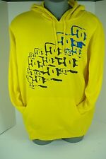 "New Mens 2XL XXL DC Shoes ""YC Phipps PO-M"" Yellow Pull Over Jacket Hoody $60"