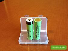 2x AUTHENTIC PANASONIC NCR18650B 3400mAh Rechargeable Battery JAPAN - BUTTON TOP