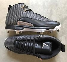 Nike Jordan 12 XII Retro METAL Baseball Cleats Black size 11 (# 854567-010)