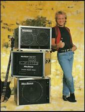 Mark King (Level 42) 1989 Mesa Boogie bass guitar amps ad 8 x 11 advertisement