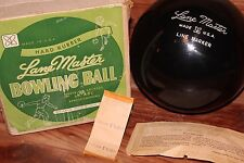 (UNDRILLED Vintage 50's) LANE MASTER Line Maker RUBBER Bowling Ball+Box+Tag NOS