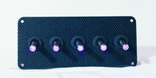 LED toggle switches - PURPLE - w/  Carbon Fiber Panel
