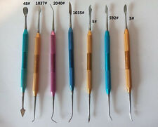 7pcs/set Dental Lab Stainless Steel Colorful Wax Plaster Carving Tool Set