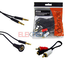 Auxiliary Input 3.5mm (1/8) Jack Dash Mount Adapter RCA Aux iPhone/iPod/Android