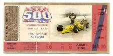 1988 Indy 500 Race ticket stub Mears Unser Indianapolis