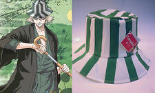 Anime Bleach Costume: Urahara Kisuke Cotton Festival Party Cosplay Striped Hat