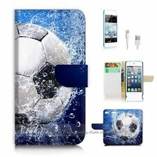 iPod Touch 6 iTouch 6 Flip Wallet Case Cover! P0156 Soccer Football