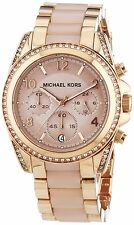 **NEW* LADIES MICHAEL KORS GOLD  BLAIR 2-TONE BLUSH CHRONO WATCH MK5943 -RRP£259