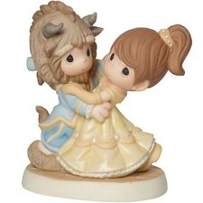 New PRECIOUS MOMENTS DISNEY Figurine BEAUTY & BEAST BELLE Statue DANCE COUPLE