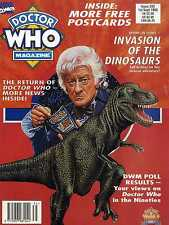 DOCTOR WHO MAGAZINE #203 FREE POSTCARDS, INVASION OF THE DINOSAURS, JON PERTWEE
