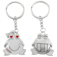 Couple Key Chain Cute Frog Pendant Lovers Keychain Keyring Ring Keyfob Gift AD