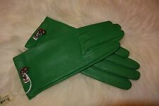 NWT HERMES Soya Ladies Gloves in Bamboo size 8