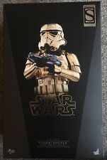 "Star Wars Gold Chrome Stormtrooper 12"" 1/6 Scale Figure Sideshow Hot Toys MMS364"
