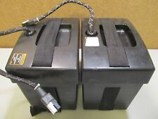 Two Pride Jazzy 1113 battery boxes with battery cables