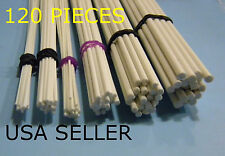 STYRENE ROUND ROD - 120 PIECE ASSORTMENT LOT- 6 SIZES - PIPE