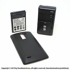 6800mAh Extended Battery for LG G3 D830 D851 Black Cover Dock Charger
