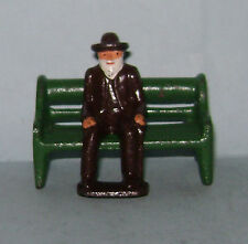 "Vintage Grey Iron ""Old Man Sitting On Bench""  Near Mint Condition FREE SHIPPING"