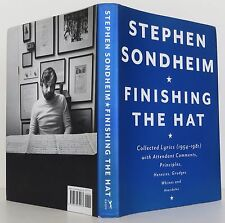 STEPHEN SONDHEIM Finishing the Hat INSCRIBED FIRST EDITION