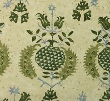 BRAEMORE POMEGRANATE LEAF GREEN CREAM FLORAL MULTIUSE FABRIC BY THE YARD